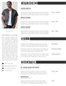 black-and-white-resume