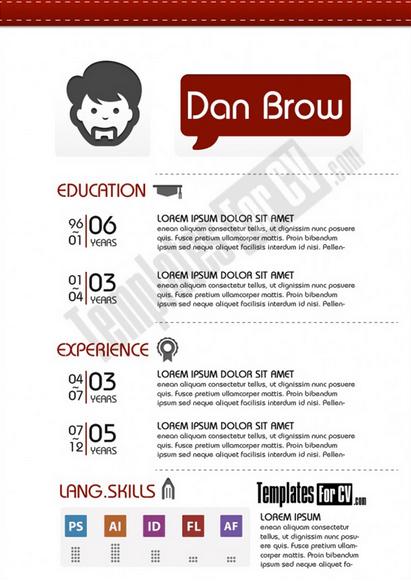graphic designer single page cv template