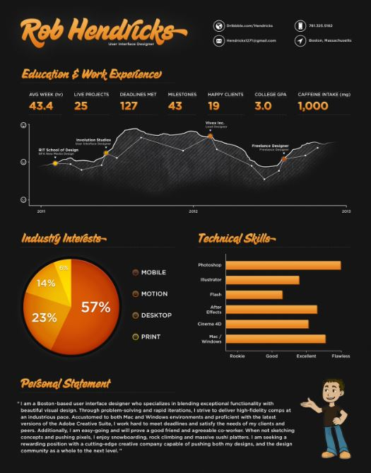 infographic-resume-style-template