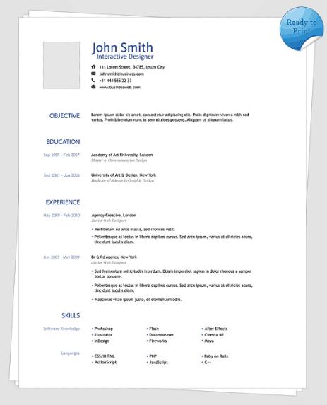 clean-simple-resume