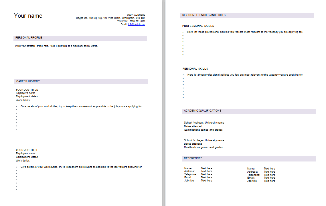 9 winword curriculum vitae templates