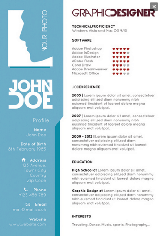 Graphic-designers-single-page-resume-template