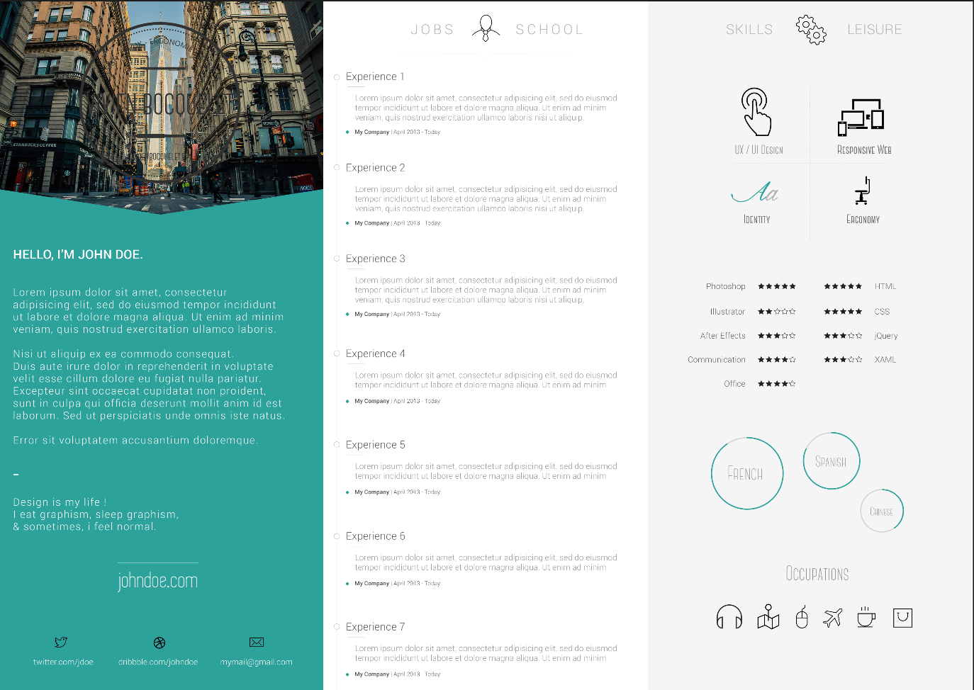 top 3 resume templates in 2014 creative john doe cv template design