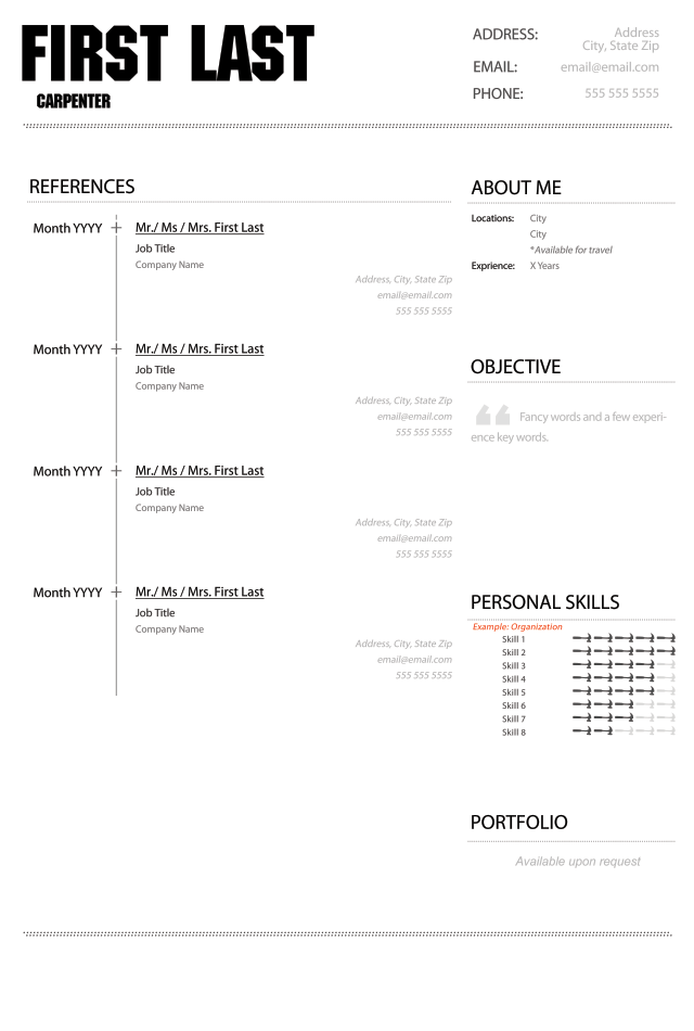 black  u0026 white curriculum vitae template and cover letter