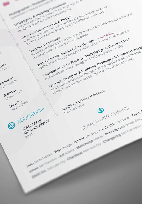 creative professional multipage resume template example