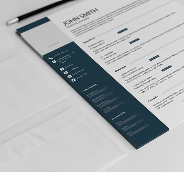 simple professional resume template example