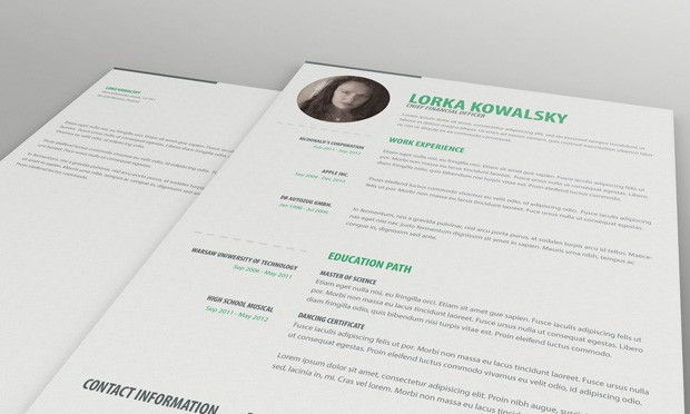 single page resume template and cover letter
