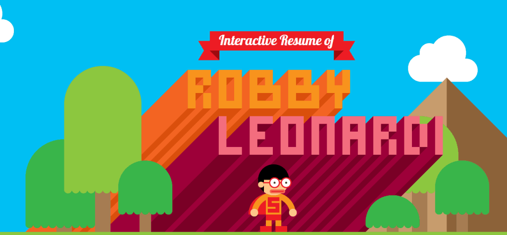 awesome example of interactive resume